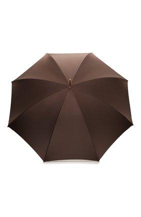 Женский зонт-трость PASOTTI OMBRELLI коричневого цвета, арт. 189/RAS0 55975/22/PELLE | Фото 1