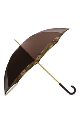 Женский зонт-трость PASOTTI OMBRELLI коричневого цвета, арт. 189/RAS0 55975/22/PELLE | Фото 2