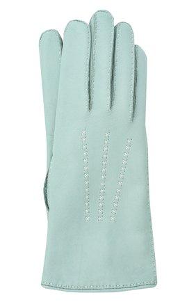 Женские кожаные перчатки LORO PIANA голубого цвета, арт. FAL2793 | Фото 1