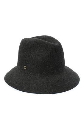 Женская фетровая шляпа ingrid LORO PIANA серого цвета, арт. FAL3434 | Фото 1 (Материал: Шерсть)