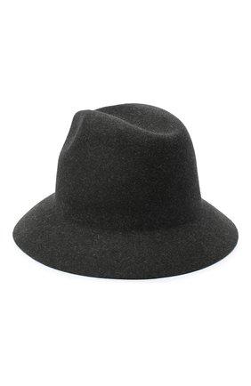 Женская фетровая шляпа ingrid LORO PIANA серого цвета, арт. FAL3434 | Фото 2 (Материал: Шерсть)
