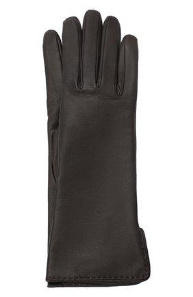Женские кожаные перчатки LORO PIANA темно-коричневого цвета, арт. FAL2778 | Фото 1