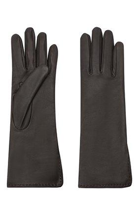 Женские кожаные перчатки LORO PIANA темно-коричневого цвета, арт. FAL2778 | Фото 2