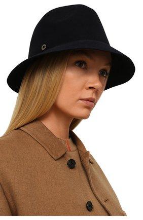 Женская фетровая шляпа ingrid LORO PIANA синего цвета, арт. FAL3434 | Фото 2 (Материал: Шерсть)