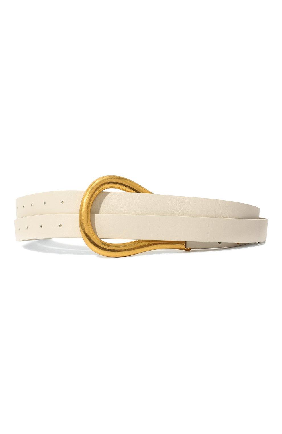 Женский кожаный ремень BOTTEGA VENETA белого цвета, арт. 577040/VMAU1   Фото 1