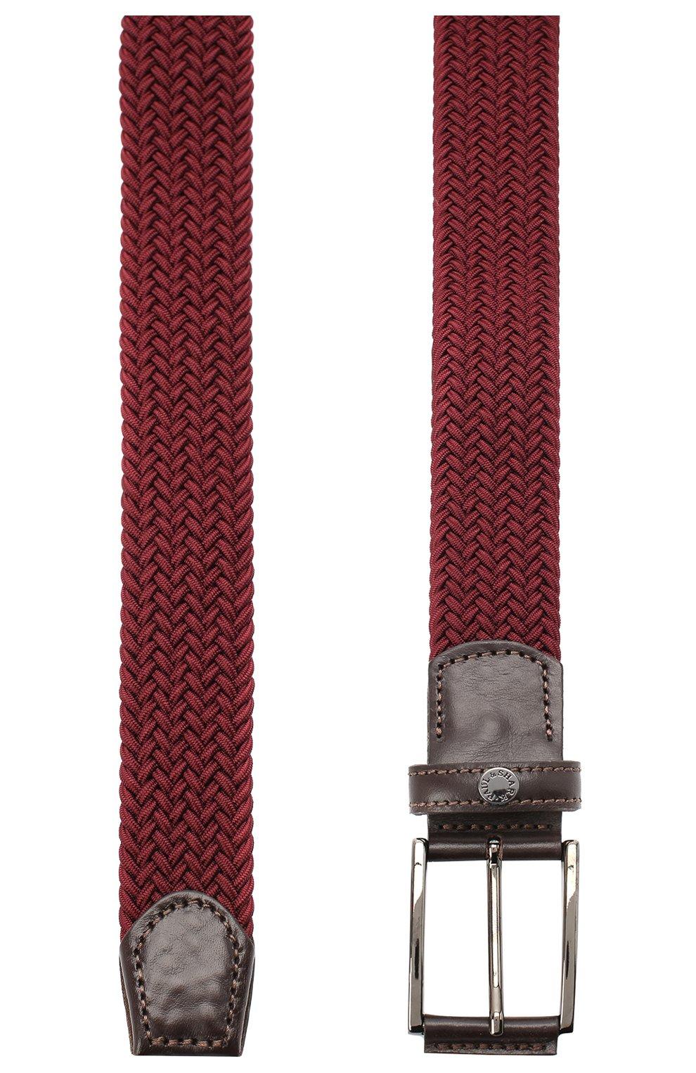 Мужской ремень PAUL&SHARK бордового цвета, арт. I20P6001/GQU   Фото 2
