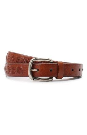 Мужской ремень BRUNELLO CUCINELLI коричневого цвета, арт. MAUFD263 | Фото 1