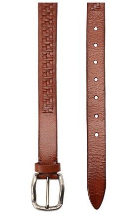 Мужской ремень BRUNELLO CUCINELLI коричневого цвета, арт. MAUFD263 | Фото 2