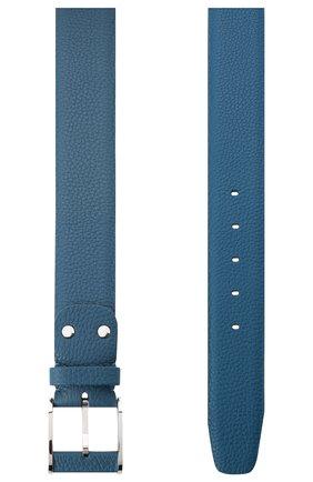 Мужской кожаный ремень ZILLI голубого цвета, арт. MJL-CLAQE-01805/0236 | Фото 2