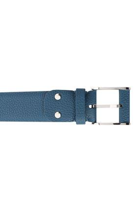 Мужской кожаный ремень ZILLI голубого цвета, арт. MJL-CLAQE-01805/0236 | Фото 3