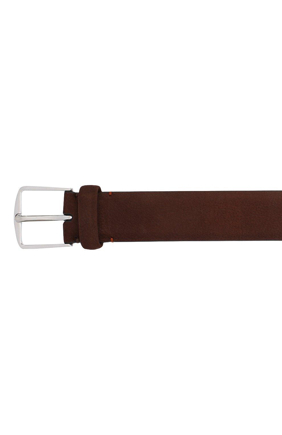 Мужской замшевый ремень LORO PIANA темно-коричневого цвета, арт. FAL2922 | Фото 3