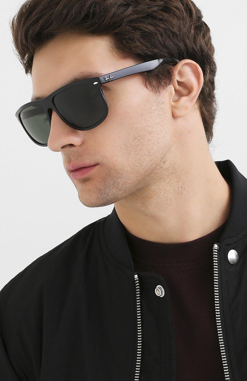 Мужские солнцезащитные очки RAY-BAN черного цвета, арт. 4147-601/58 | Фото 2