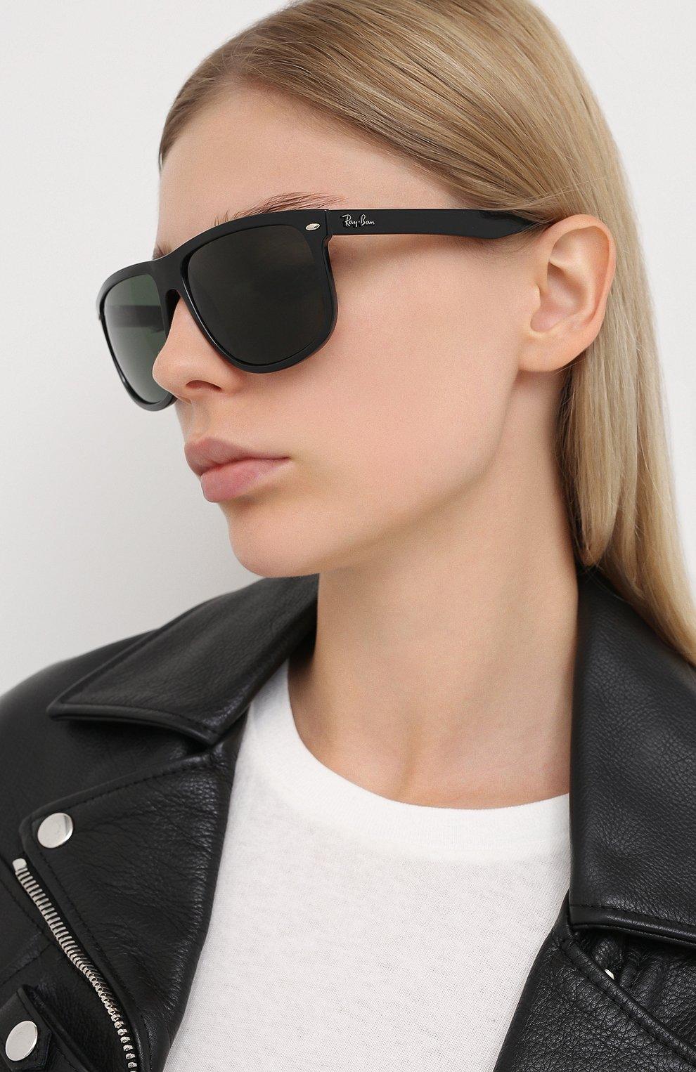 Мужские солнцезащитные очки RAY-BAN черного цвета, арт. 4147-601/58 | Фото 3