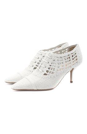 Женская кожаные туфли GIORGIO ARMANI белого цвета, арт. X1C198/XM378 | Фото 1