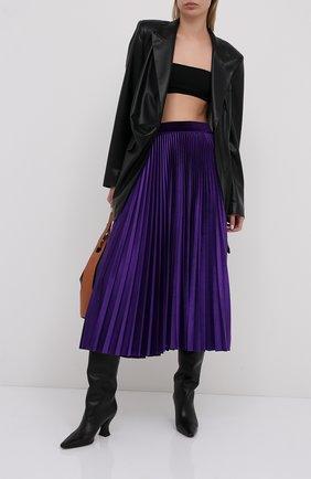 Женская юбка-миди VALENTINO фиолетового цвета, арт. UB3MD01W5MD | Фото 2