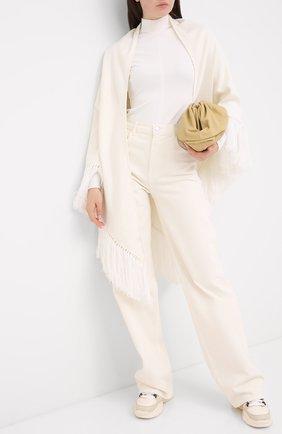 Женская кашемировая накидка LORO PIANA белого цвета, арт. FAL0761 | Фото 2