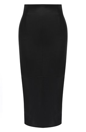 Женская кожаная юбка BRUNELLO CUCINELLI черного цвета, арт. MPV32G2968 | Фото 1