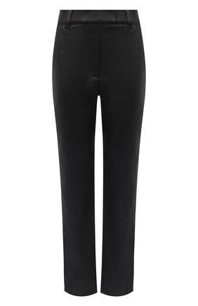 Женские кожаные брюки BRUNELLO CUCINELLI черного цвета, арт. MPV32P7118 | Фото 1