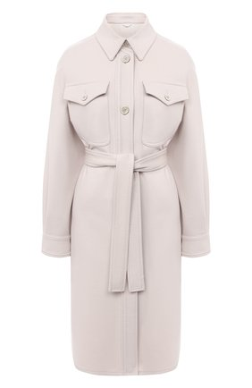 Женское пальто из шерсти и кашемира BRUNELLO CUCINELLI белого цвета, арт. ME4179480P | Фото 1