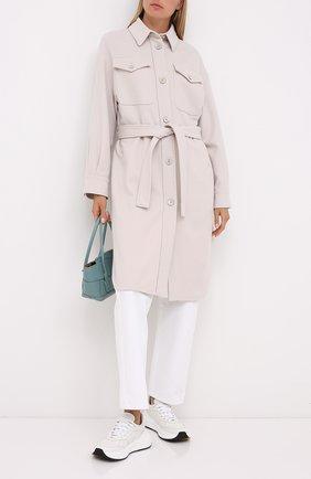 Женское пальто из шерсти и кашемира BRUNELLO CUCINELLI белого цвета, арт. ME4179480P | Фото 2
