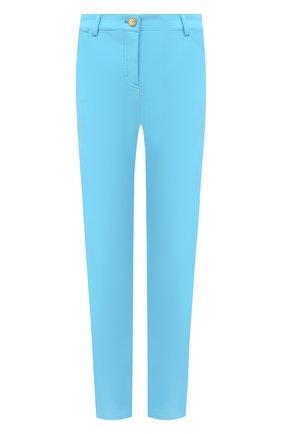 Женские укороченные брюки прямого кроя ESCADA голубого цвета, арт. 5024889 | Фото 1