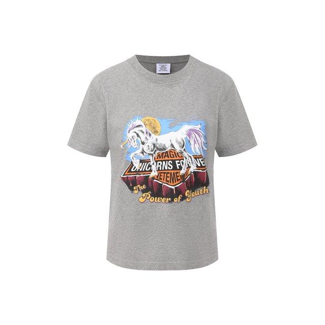 Хлопковая футболка Vetements.