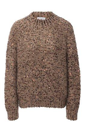 Женский свитер BRUNELLO CUCINELLI коричневого цвета, арт. MAA379704   Фото 1