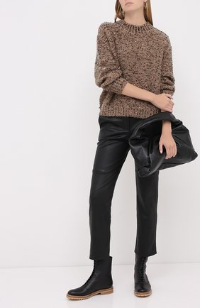 Женский свитер BRUNELLO CUCINELLI коричневого цвета, арт. MAA379704   Фото 2
