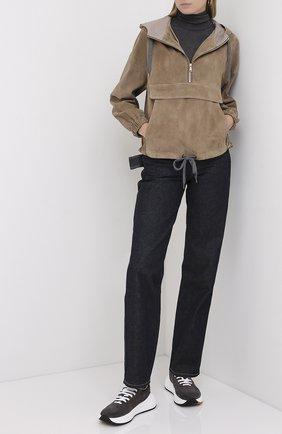 Женская шерстяная водолазка BRUNELLO CUCINELLI серого цвета, арт. MB941BT704 | Фото 2