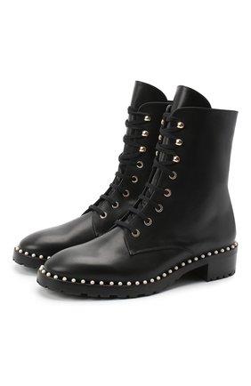 Женские кожаные ботинки STUART WEITZMAN черного цвета, арт. S4988 | Фото 1