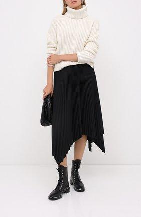 Женские кожаные ботинки STUART WEITZMAN черного цвета, арт. S4988 | Фото 2