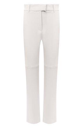Женские кожаные брюки BRUNELLO CUCINELLI бежевого цвета, арт. MPV32P7118 | Фото 1