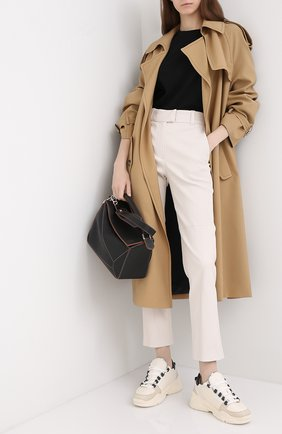 Женские кожаные брюки BRUNELLO CUCINELLI бежевого цвета, арт. MPV32P7118 | Фото 2