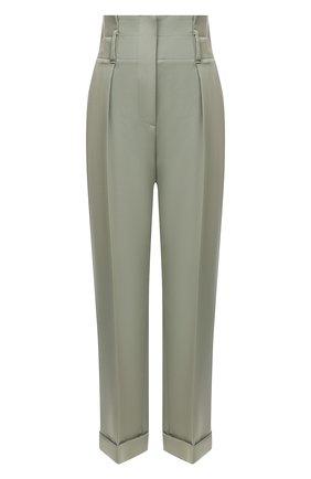 Женские шерстяные брюки BRUNELLO CUCINELLI разноцветного цвета, арт. MP171P7373 | Фото 1
