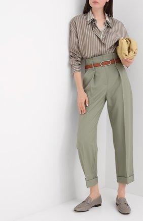 Женские шерстяные брюки BRUNELLO CUCINELLI разноцветного цвета, арт. MP171P7373 | Фото 2