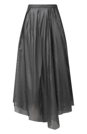 Женская юбка BRUNELLO CUCINELLI серебряного цвета, арт. MP002G2985 | Фото 1