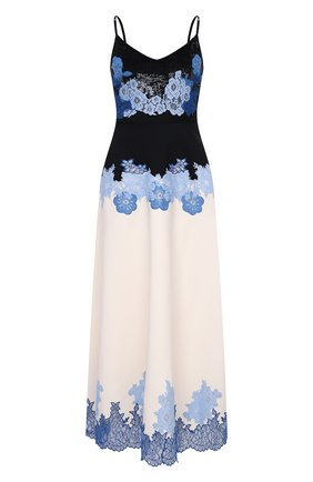 Женское платье из шерсти и шелка VALENTINO голубого цвета, арт. UB3VARK81CF   Фото 1