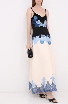 Женское платье из шерсти и шелка VALENTINO голубого цвета, арт. UB3VARK81CF   Фото 2