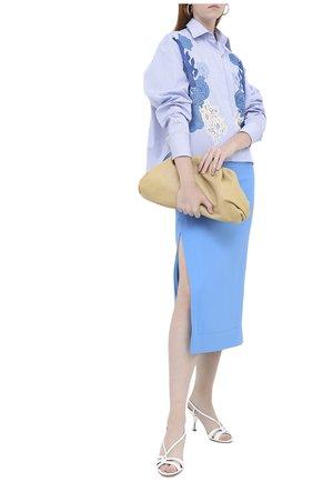 Женская юбка VALENTINO голубого цвета, арт. UB3RA6B51CF | Фото 2