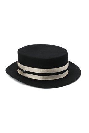 Женская фетровая шляпа GIORGIO ARMANI черно-белого цвета, арт. 797403/0A522 | Фото 1