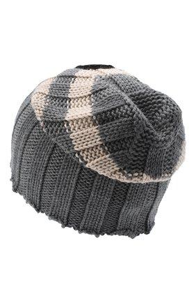Женский шерстяная шапка GIORGIO ARMANI серого цвета, арт. 797377/0A513 | Фото 2