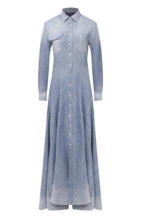 Женское джинсовое платье RALPH LAUREN голубого цвета, арт. 290799301 | Фото 1