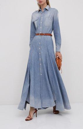 Женское джинсовое платье RALPH LAUREN голубого цвета, арт. 290799301 | Фото 2