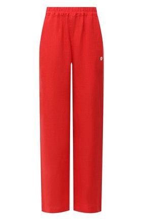 Женские льняные брюки LA FABBRICA DEL LINO красного цвета, арт. 00105 | Фото 1