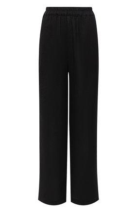 Женские льняные брюки LA FABBRICA DEL LINO черного цвета, арт. 00105   Фото 1