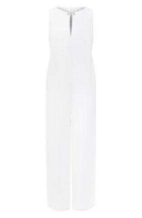 Женский льняной комбинезон LA FABBRICA DEL LINO белого цвета, арт. 00110 | Фото 1