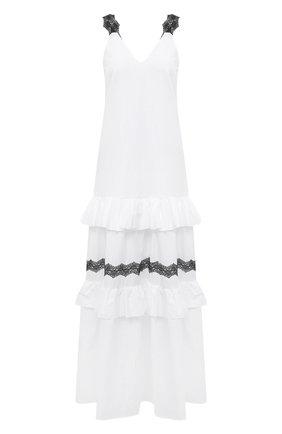 Женское льняное платье LA FABBRICA DEL LINO белого цвета, арт. 00376 | Фото 1