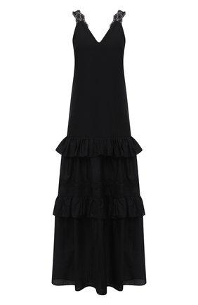 Женское льняное платье LA FABBRICA DEL LINO черного цвета, арт. 00376 | Фото 1