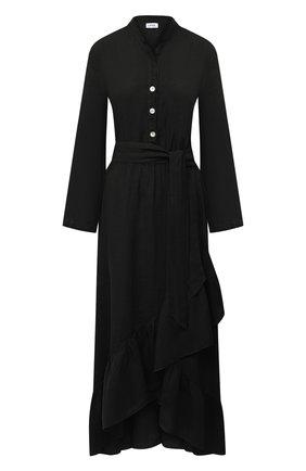 Женское льняное платье LA FABBRICA DEL LINO черного цвета, арт. 00309   Фото 1