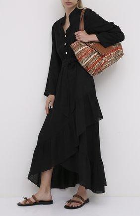 Женское льняное платье LA FABBRICA DEL LINO черного цвета, арт. 00309   Фото 2